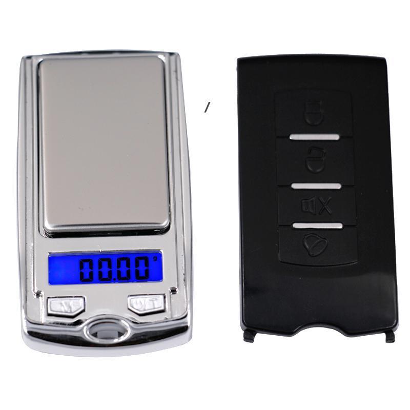 Mini escala de bolsillo digital 200g 0.01g Precisio N G / DWT / CT Medición de peso para joyería de cocina Tareas de farmacia Pesaje NHB6272
