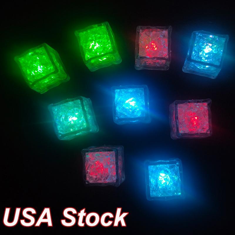 Buz Küpleri LED Parti Dekorasyon Işıkları Polychrome Flaş Parlayan Dalgıç Yukarı Bar Kulübü Çok renkli Işık-up Su içecekler için aktif olarak   Su geçirmez ve güvenli plastik