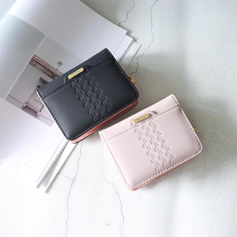 Bolso corto de la bolsa de la tarjeta de la tarjeta corta del estilo de la cartera para la novia coreana