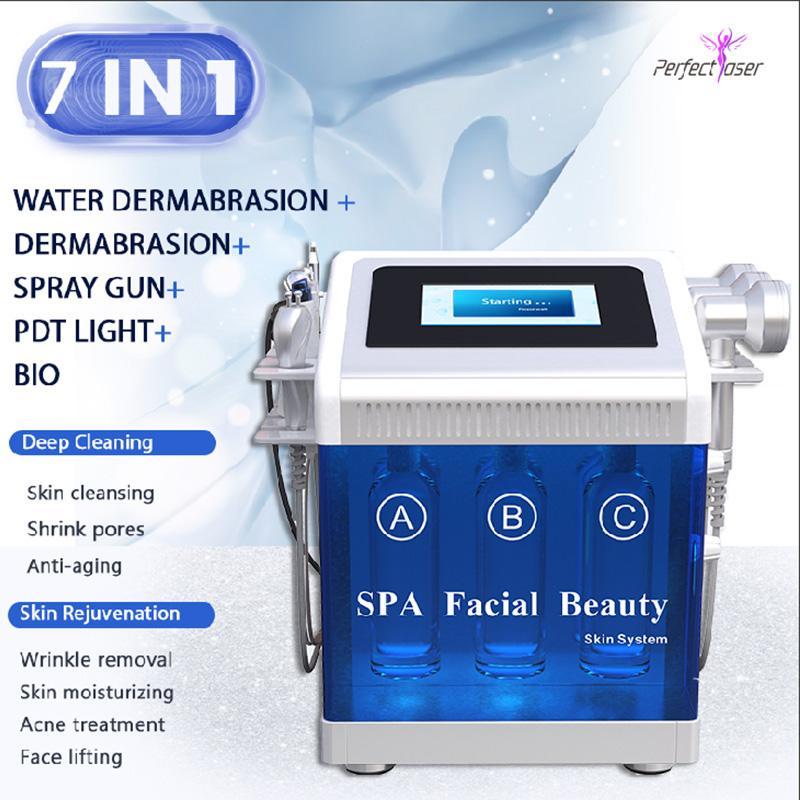 7 en 1 Buena succión Máquina hidráulica HYDRA DERMABRAION PEEL SPA Máquina facial Factrodermabrasión Cuidado de la piel Máquinas limpiadoras