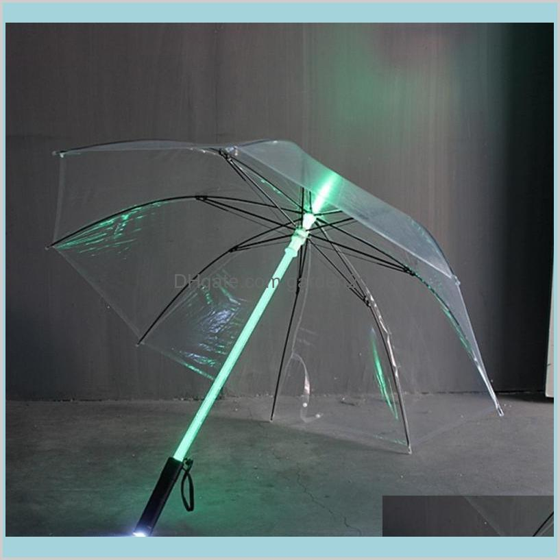 Umbrellas Household Sundries Home & Garden 50Pcs/Lot Cool Blade Runner Light Saber Led Flash Umbrella Rose Bottle Flashlight Night Wal