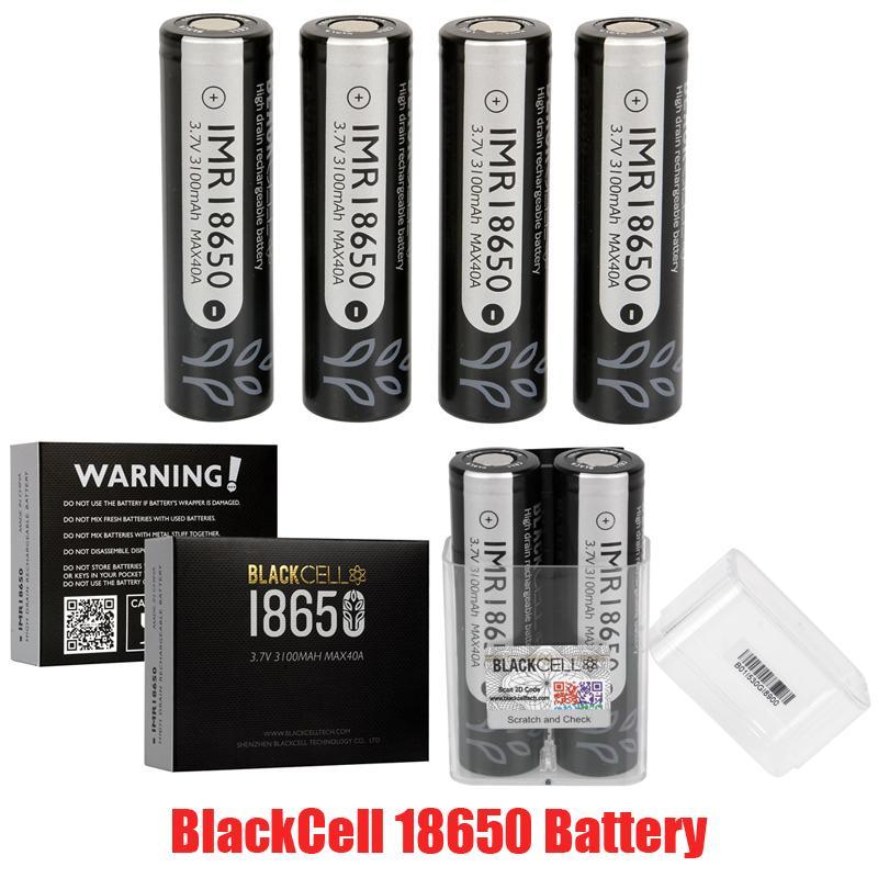 100% Original Blackcell IMR18650 Batterieart Schwarz Rot Blau Gelb Haut IMR 18650 Lithiumbatterie 3500mAh 20A 35A 3100mAh 40A für VAPE BOX MOD
