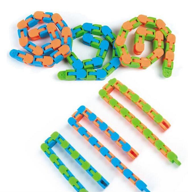 Dernières pistes Wacky Snap Farny FAVORISON et cliquez sur Fidget Snake Puzzles Tangle Tangle pour enfants Adultes Adulte ADHD Autisme Soulagement Soulagement Garde les doigts