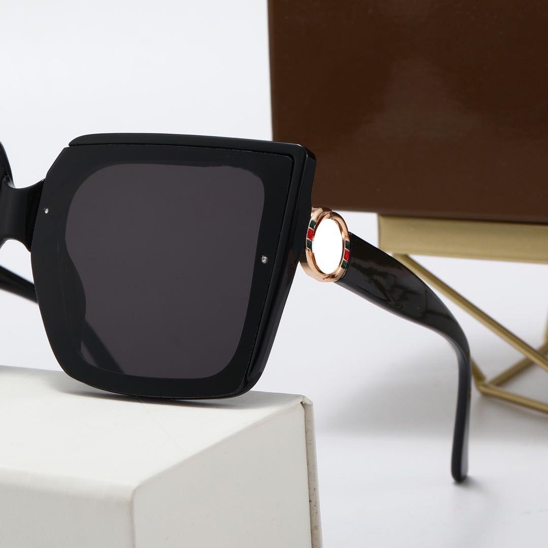 2021 تصميم الأزياء الكلاسيكية الاستقطاب النظارات الشمسية الفاخرة للرجال النساء الطيار نظارات الشمس uv400 نظارات إطار معدني بولارويد عدسة مع صندوق