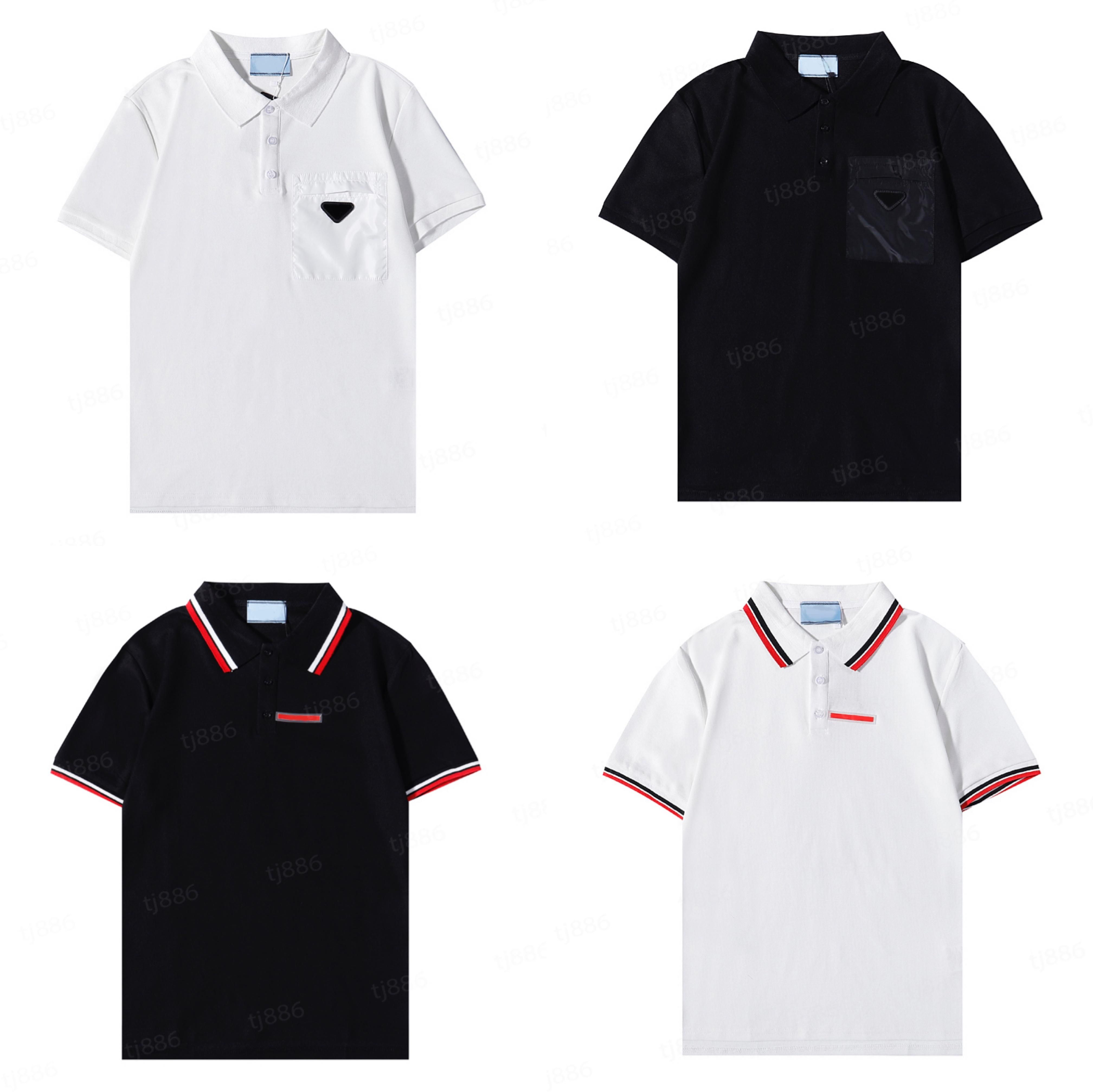 Camisa Polo de Alta Qualidade Classic Senior Sênior Casual Homme Mangas Curtas T - shirts Mens Algodão Confortável Tendência Verão 2021