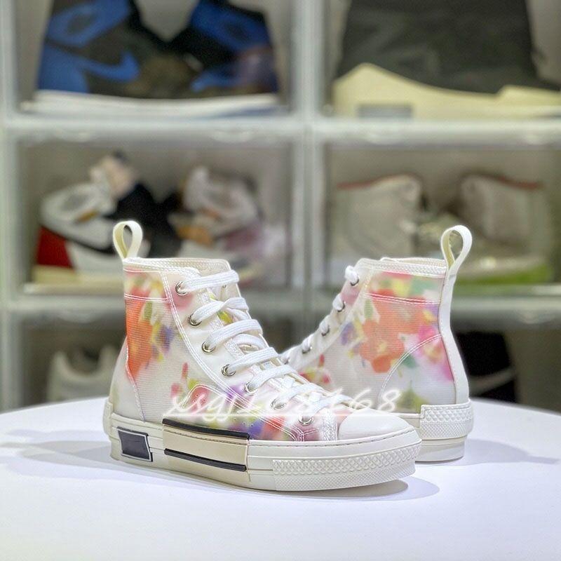 2021 جودة عالية الرجال والنساء الأحذية عارضة الأزياء حك النسيج تصميم الطباعة عالية أعلى زوجين الأحذية قماش أحذية الحجم حجم 35-45