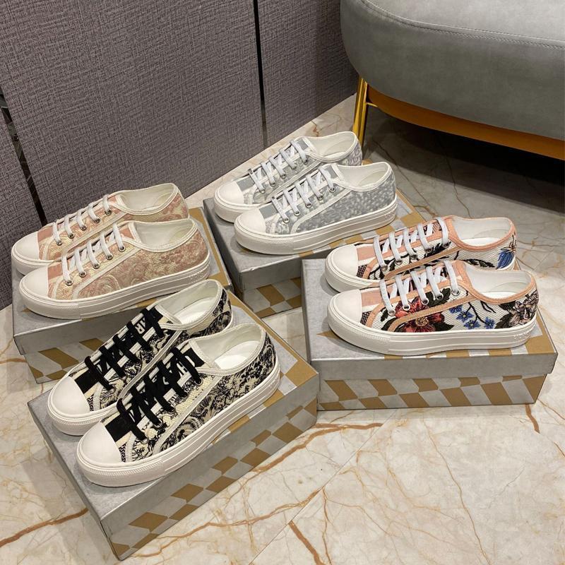 2021 Walk 'n' Oblique women shoe Sneaker Gray Black White Embroidered Cotton Low-cut Shoes Fashion Rosa Mutabilis Trainers Multicol