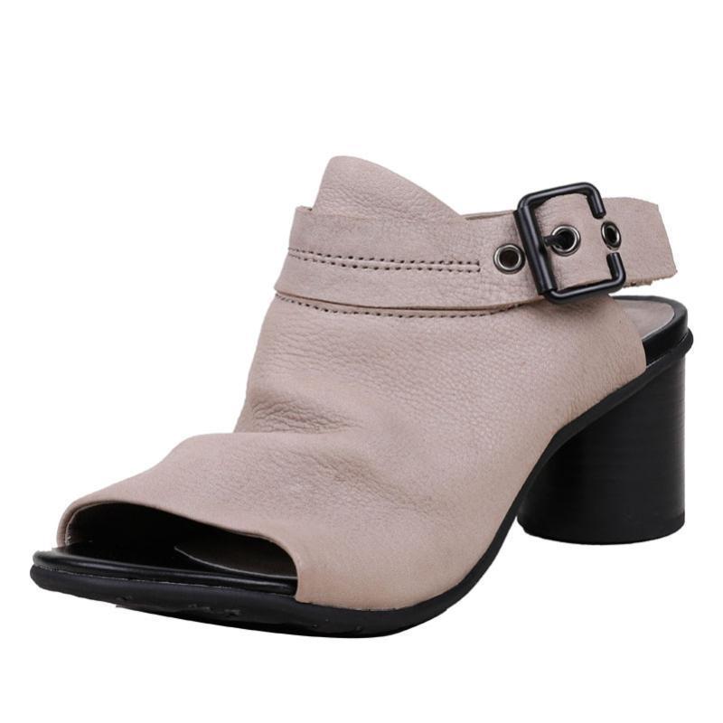 YourSeason Vintage Female High Heels Summer Shoes Genuine Leather 2021 Autumn Buckle Strap Ladies Platform Rome Sandals