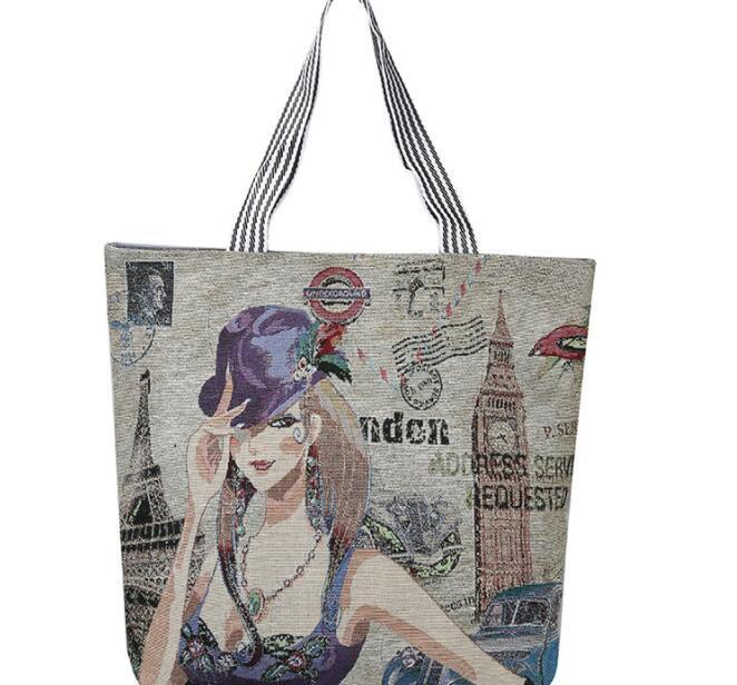 مصنع بالجملة حار بيع الأزياء حقيبة قماش حقيبة كتف بسيطة السيدات حقيبة تسوق سعة كبيرة حقيبة نقل مجانية