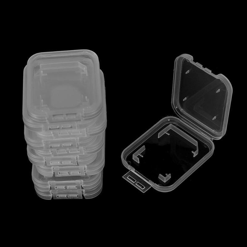 Téléphone cellulaire monte des détenteurs de 10 pcs pour SD SDHC Memory Carte de mémoire Protecteur de boîtier en plastique transparent