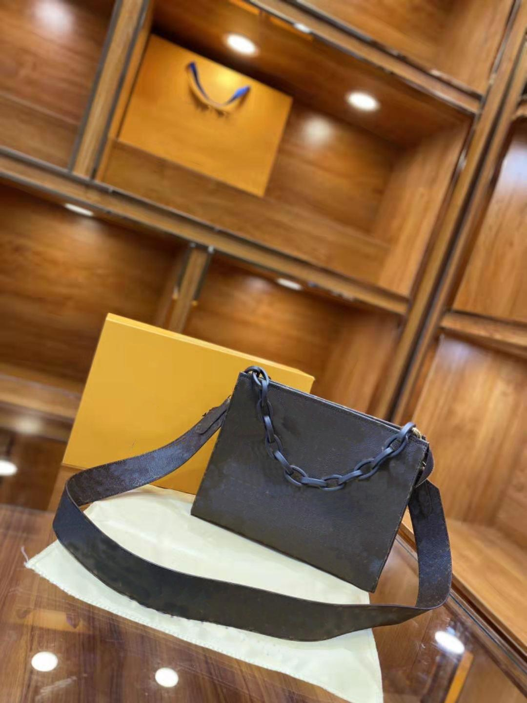 Kette Alar Bag Baguette Frauen Echtes Leder Handtaschen Braune Handtasche Schulter Messenger Bags Mode Presbyopia Mädchen