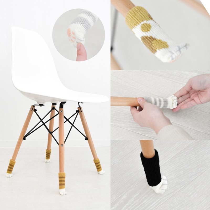 니트 미끄럼 방지 고양이 발톱 의자 테이블 다리 슬리브 커버 가구 다리 양말 바닥 보호대 내구성 정전기 방지 매트 도어 핸들 장갑
