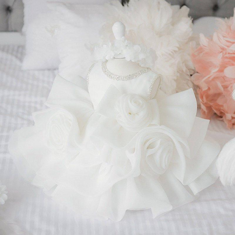 الدانتيل الأبيض طفل فتاة التعميد اللباس طبقة تول أكمام المعمودية الكرة ثوب طفلة طفل عيد اللباس عيد الزفاف vestido q1223 298 z2
