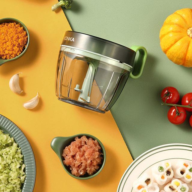 KONKA KÜCHE Ziehen Manuelle Lebensmittel Seilprozessor Shredder Gemüse Fleisch Knoblauch Zwiebeln Chopper Slicer Haushalt Hand Mincer Werkzeug