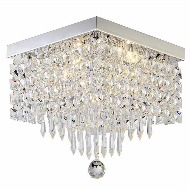 맹그릭 크리스탈 LED 천장 램프 복도 사다리 복도 조명을위한 사각형 빛