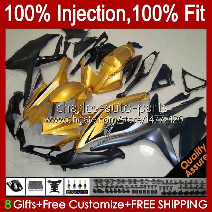 Injektionsform för SUZUKI GSXR600 K8 GSX-R750 GSXR-600 GSXR-750 GSXR750 Bodywork 9HC.98 Golden Glossy GSX-R600 2008 2009 2010 GSXR 600 750 CC 600CC 750cc 08 09 10 FAIRING