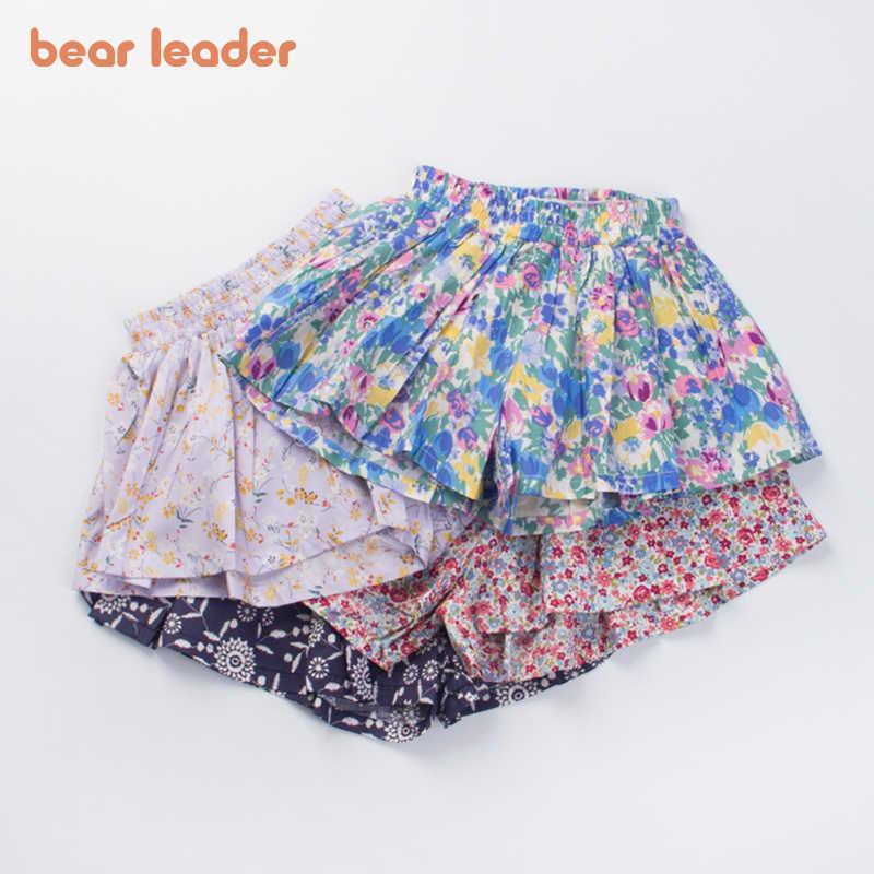 Bear Leader Summer Korean Fashion Style Shorts Fashion Toddler Floral Pants Kids Cute Princess Clothing For 2-7 Years 210708
