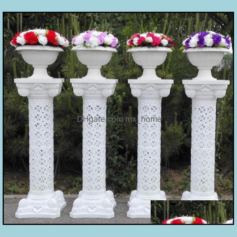 Other Event Festive Supplies Home & Gardenplastic Rome Column Height 38 Inch[98 Cm] Roman Road Lead Frp Columns For Wedding Arrangement Part