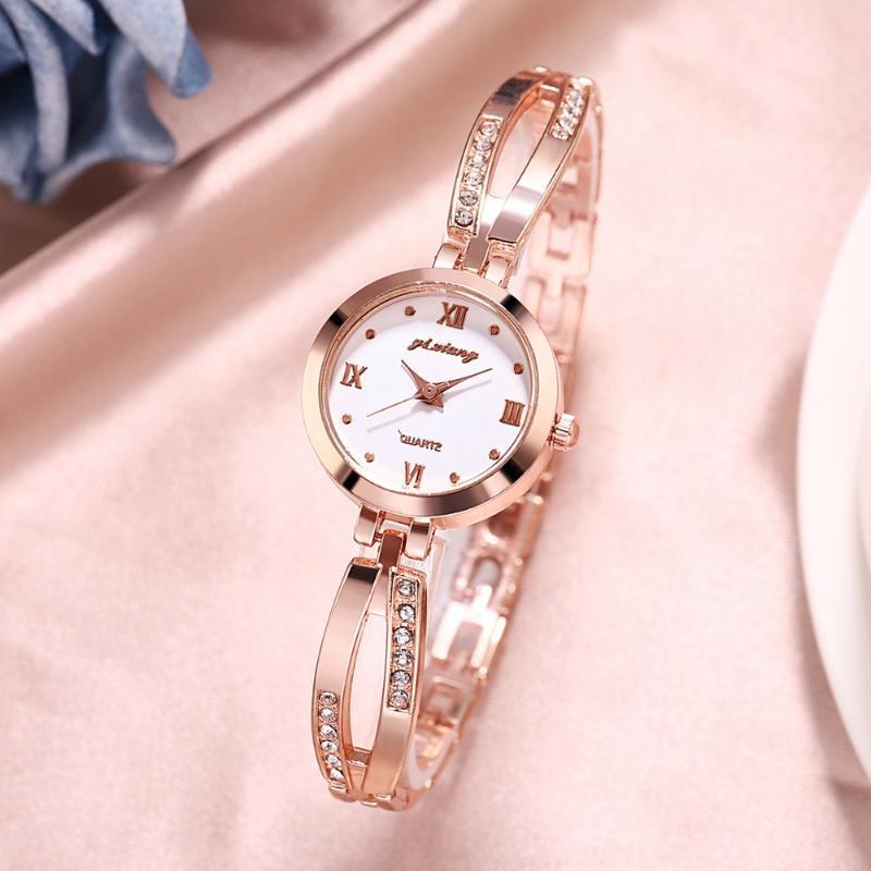 Luxury Watches Stainless Steel Small Gold Bracelet Watch Ladies Quartz Wristwatches Fashion Casual Women Dress