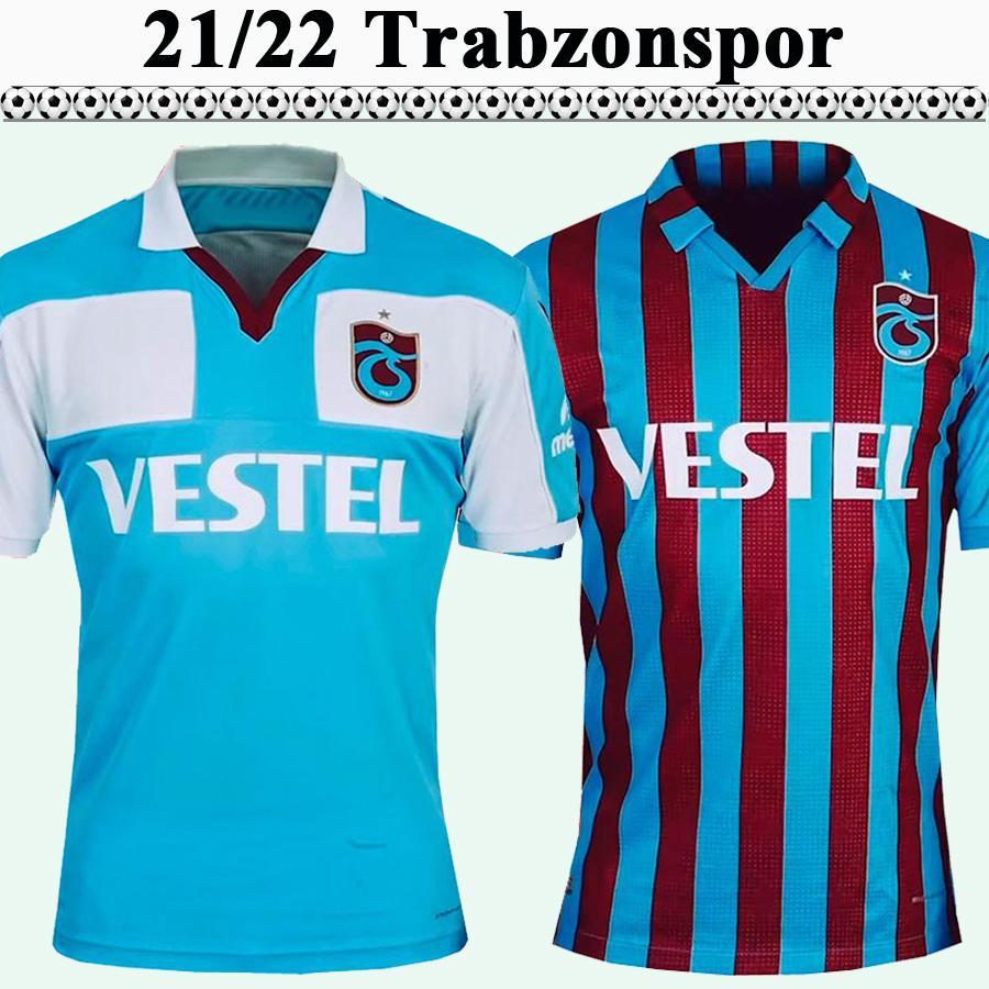 21 22 Maillots de football pour hommes Trabzonspor pour hommes A. Nwakaeme C. Ekub Gervinho B.Peres Accueil Chemise de football Ventilateurs à manches courtes Uniformes adultes