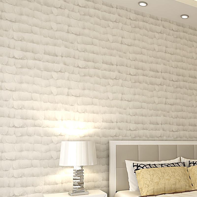 Duvar Kağıtları Modern Minimalist Olmayan Dokuma Tüy Duvar Kağıdı Yatak Odası Duvar TV Arkaplan