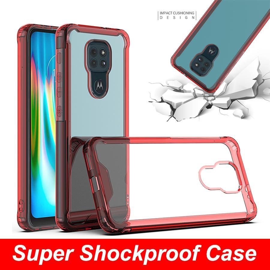 Air Almofada Absorbando Acrílico Acrílico Celulares Transparentes Celulares para iphone 11 Moto Stylus E7 G9 Power E6 Plus G LG K92 Stylo7 Híbrido Clear Cobertura de Proteção