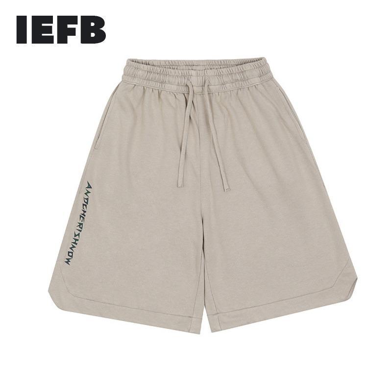 Streetwear Hip Hop Sweat Pantalón de Sweatpants Letter Impresión Casual Shorts Hombre Deportes Rodilla Largo Pantalones Elástico Cintura Bottoms 9Y6477