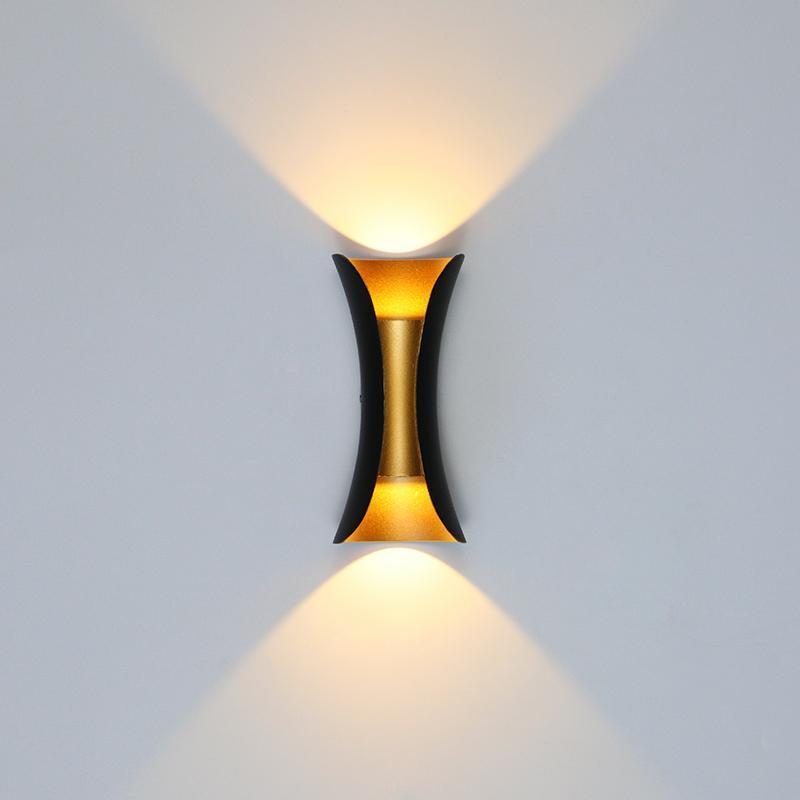 야외 방수 가든 아트 벽 램프 IP65 LED 빛 6W / 14W / 24W 실내 복도 침실 거실 장식 조명 램프