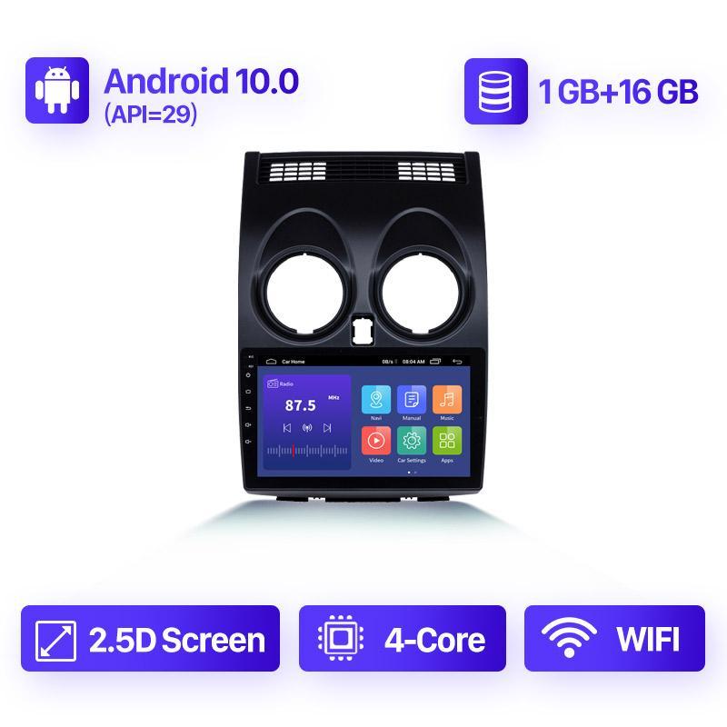 Android 10,0 2 + 32 Go de voiture DVD Radio GPS Stéréo pour Nissan Qashqai 1 J10 2006-2013 Navigation GPS GPS Multimidia Video Player 2 DIN