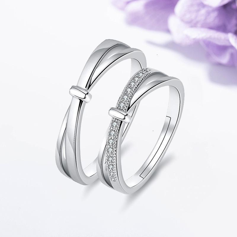 Ring Paar Live Koreanische Mode Einfache Herren- und Damen-Set Valentinstag Ehering