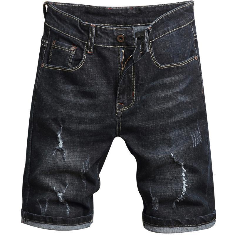Jeans da uomo Jeans Moruancle Estate da uomo strappato Breve Jeans Distressed Denim con fori Fashion Casual Jean Shorts Dimensioni 28-38