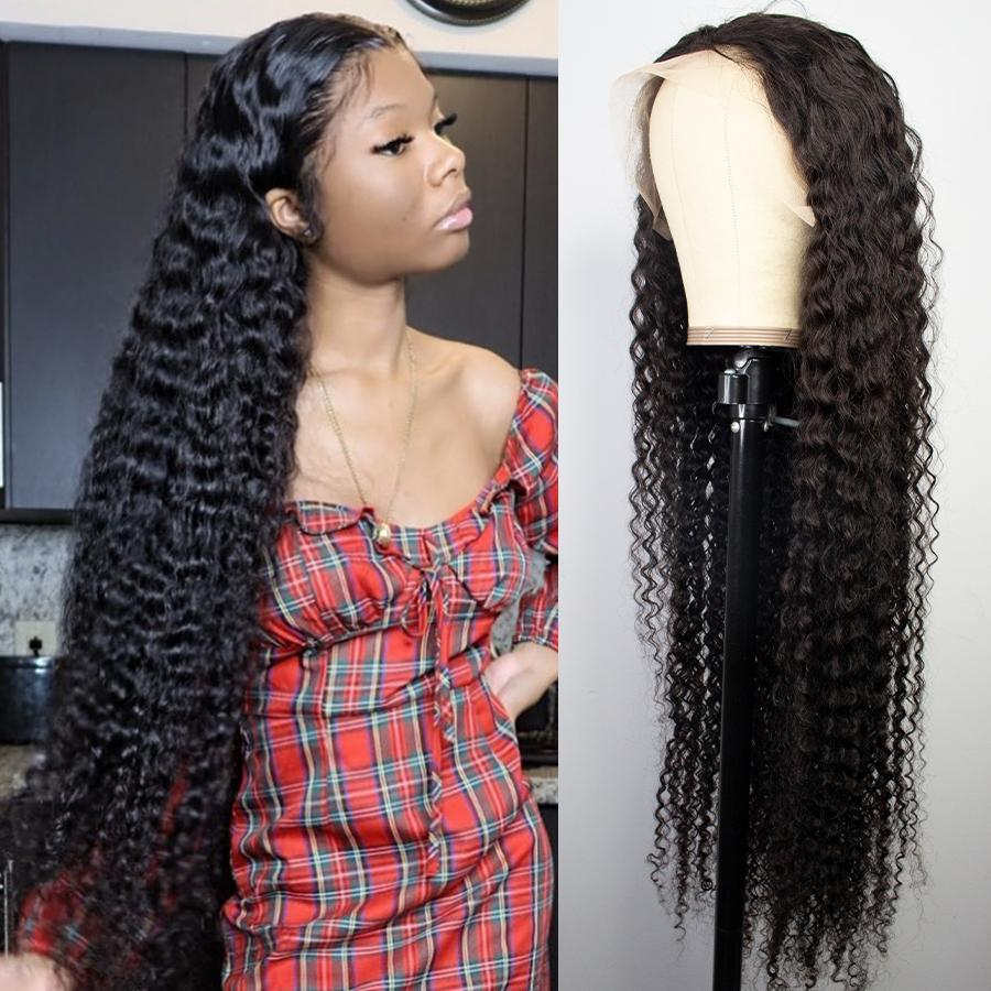 4x4 5x5 13x4 13x6 موجة عميقة hd شفافة الإنسان الشعر الرباط الباروكات التبييض عقدة قبل التقطه شعري الطبيعي للنساء السود