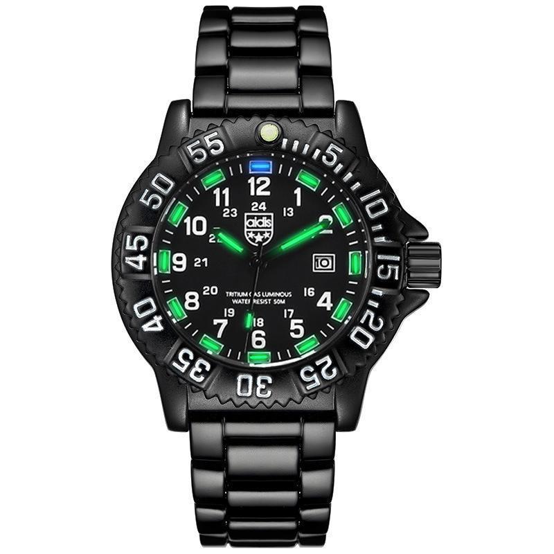 Armbanduhren Männer militärische Uhr Wasserdichte leuchtende taktische Multifunktions-Taucher-automatische Quarz-Relojes para hombre