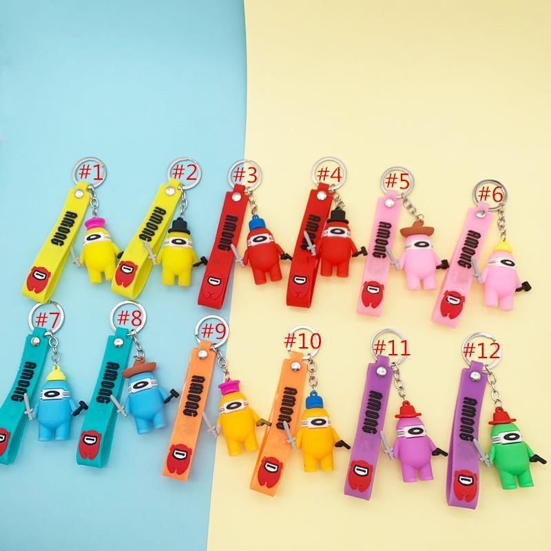 Gioco Doll Keychain morbido PVC Cartoon Anime Amanti Dolls Portachiavi Colorful Cute Key Catena portachiavi per tasti della borsa per auto Accessori Decorazione