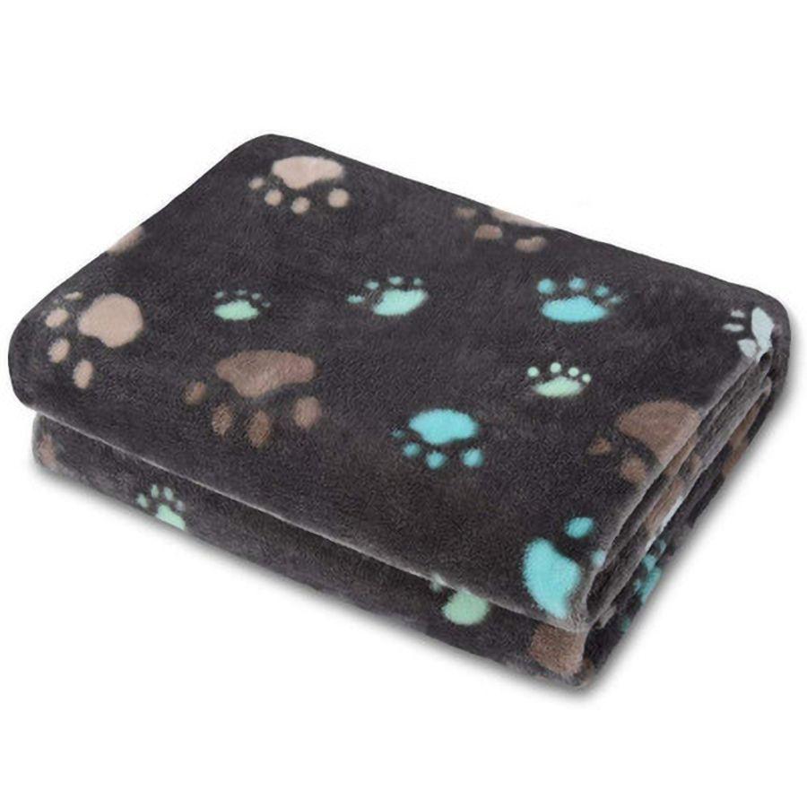 Dogs Cute Cats Mat Blanket Soft Winter Warm Fleece Paw Print Design Pet Puppy Bed Sofa Cushion Cover Towel Supplies 1WKJ