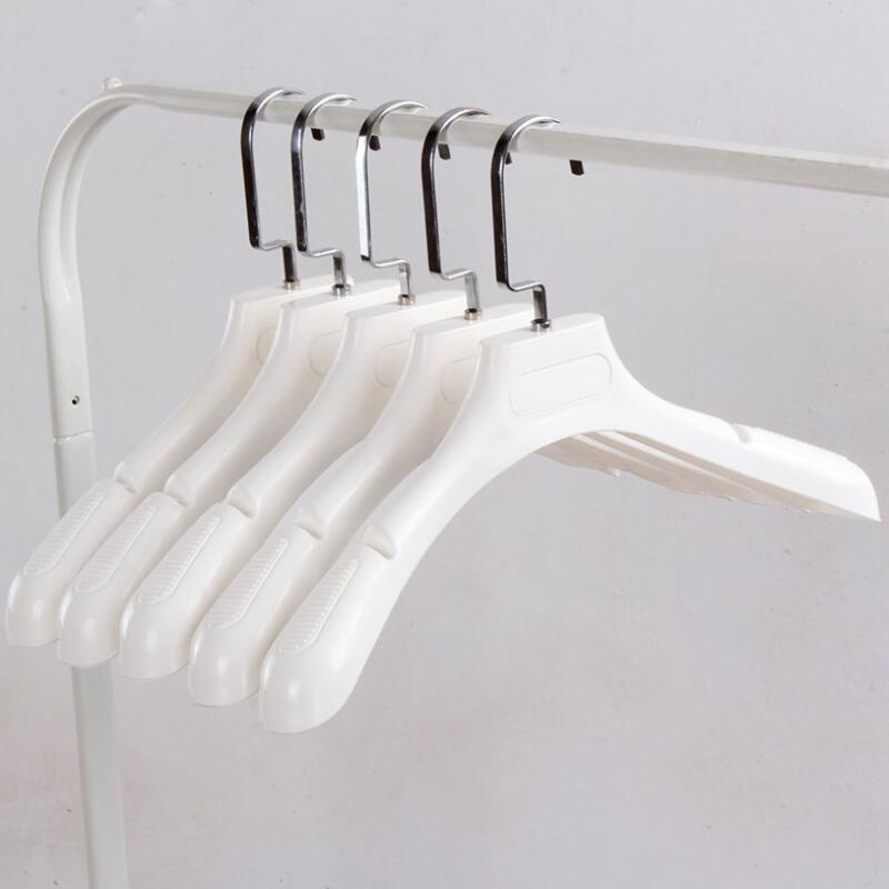 코트 의류 옷걸이 의류 및 모피 옷감 홀더 두꺼운 넓은 어깨 흰색 플라스틱 저장 랙 RH1680