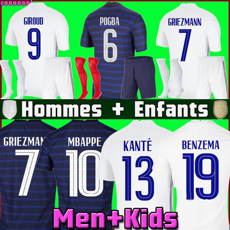 Benzema Soccer Jersey Mailleot De Fot Mailleots Football Shirt Equipe Equipment Fekir Pavard Origss de la 2021 Men + Kids Kit