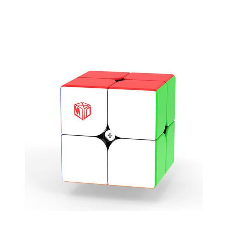 Qiyi X-Man Flare 2x2 المغناطيسي الأسود ماجيك مكعب mofangge 2x2x2 xmd سرعة مكعب 51 ملليمتر stickerless cubo magico ألعاب تعليمية