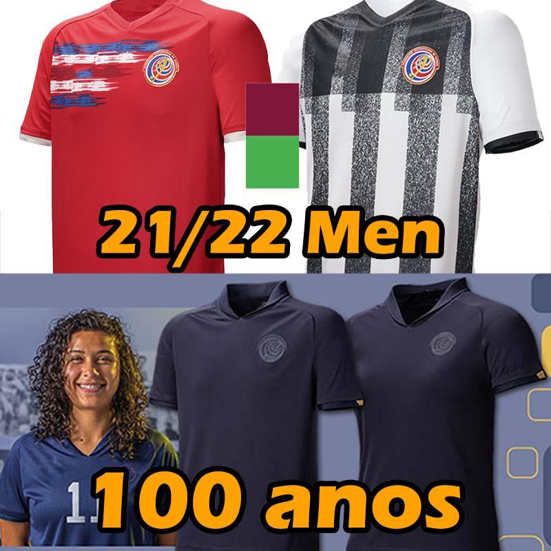 2021 2022 Kosta Rika 100. Futbol Formaları Centenary Yıldönümü 21/22 Allan Cruz Joseph Mora Randall Leal Joel Campbell Calvo 100 Años Özel Baskı Futbol Gömlek