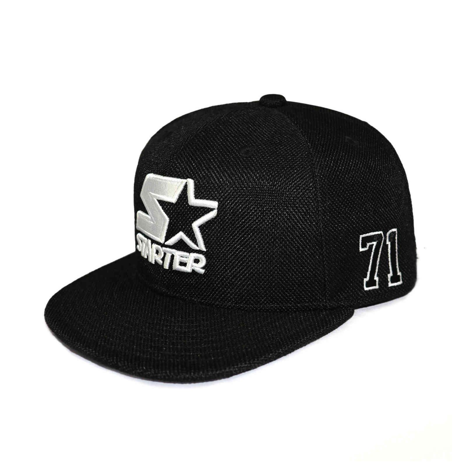 Bonés de bola impresso e bordado juventude borda plana boné de beisebol rua homem moderno marca starter hip hop chapéu