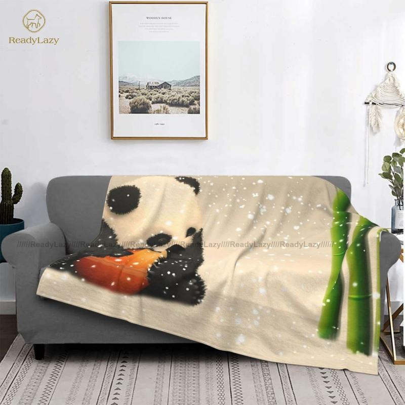 Couvertures Panda Couverture Dormir Super Soft Cool Colyfe Couvre-lit