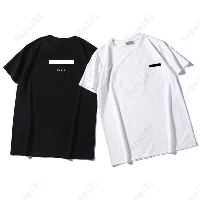 Hombre 2021 T Shirt Moda Hombres Tops Verano Manga corta transpirable Casual Classic Letter Print