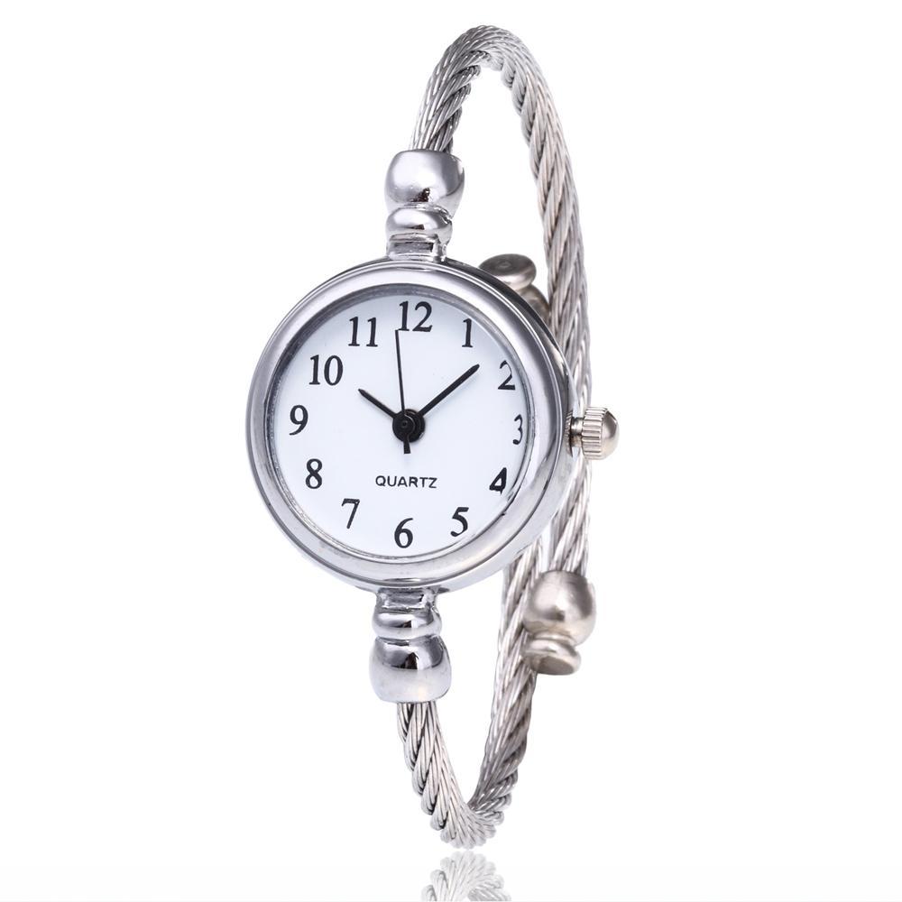 Einfache dünne Stahlband Zahlen Armband Uhren Mode Frauen Damen Weibliche Kleid Party Geschenk Armbanduhr Uhr