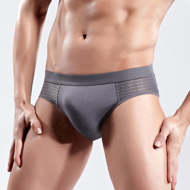 Человек Slip Gay женское белье сетки шелковые мешочки для мужчин нижнее белье Sexy Homme бамбуковые волоконные трусики мужские кратки