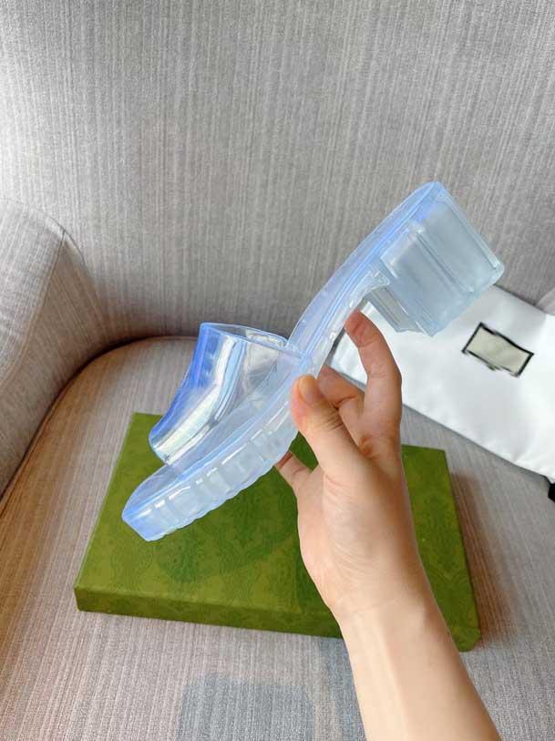 고품질 디자이너 신발! 2021 여름 패션 젤리 슬라이드 인쇄 슬리퍼 럭셔리 욕실 해변 신발 여성 샌들 가이드 선물 상자 35-41
