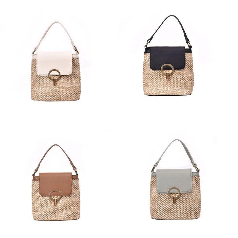 Designer straw ladies messenger bag handbag handbag shoulder bag wallet bucket messenger bag ladies