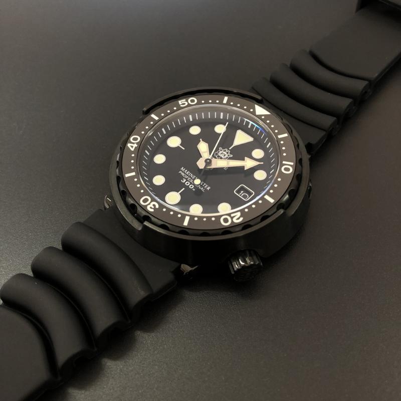 Steeldive SD1975 varış 2021 PVD Siyah Paslanmaz Çelik Kılıf NH35 Otomatik Dalış İzle Erkek Dalış Kol Saatı