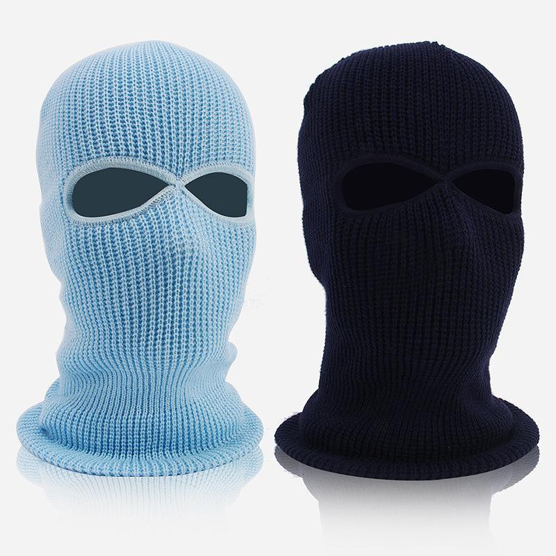 Maschera per maglieria da equitazione Moto calda calda copricapo all'aperto con sci a vento antivento cappello in cotone maschera