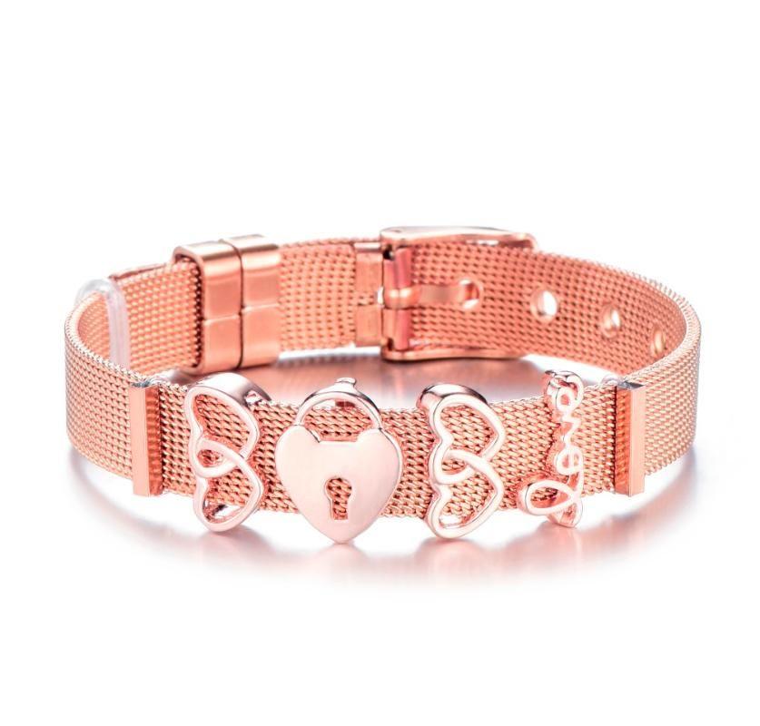 Charm Bracelets Mesh Bracelet & Bangle Stainless Steel Men Women Jewelry For Brand Fashion Set Gift
