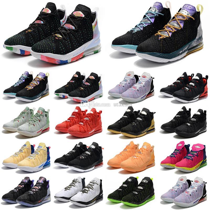 أحذية كرة السلة 18 السفلية 18S اللعب في المستقبل الكتابة على الجدران الأزرق تينت انعكاسات الوجه عصابة ليلة 2021 الرجال سلال أحذية رياضية